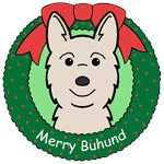 Norwegian Buhund Christmas Ornaments