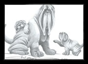 Neapolitan Mastiff Mom & her Puppies Design