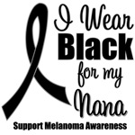 I Wear Black Ribbon(Nana) Melanoma T-Shirts