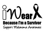 I Wear Black Ribbon  I'm A Survivor T-Shirts & Gif