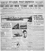 St. Louis Post Dispatch Titanic