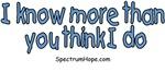 I Know More Than You Think I Do