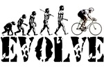 Cycling, Cyclist, Bicycle Evolution T-shirts