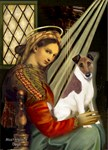 Madonna of the Chair<br>w/ Smooth Fox Terrier (B)