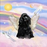 ANGEL IN THE CLOUDS<br>& Black Cocker Spaniel