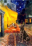 TERRACE CAFE<br>With a Chocolate Lab (#11)