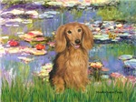 LILIES<br>& Sable long haired Dachshund