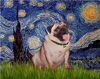 STARRY NIGHT<br>& Fawn Pug