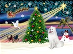 CHRISTMAS MAGIC<br>With a Samoyed