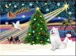 CHRISTMAS MAGIC<br>With a Samoyed