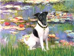WATER LILIES<br>& Smooth Fox Terrier