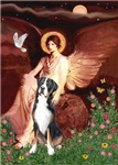 SEATED ANGEL<br>Greater Swiss Mountain Dog