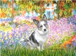 GARDEN AT GIVERNEY<br>& Blue Merle Welsh Corgi