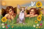 TWO ANGELS<br>& Chihuahua (fawn)