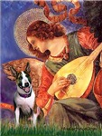 ANGEL WITH MANDOLIN<br>& Brindle Bull Terrier