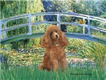 LILY POND BRIDGE/<br>& Apricot Poodle (Toy/Min)