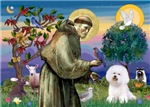 Saint Francis with<br>Bichon Frise #1