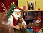 SANTA AT HOME<br> & Welsh Terrier