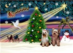 CHRISTMAS MAGIC<br>With Two Yorkies