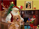 SANTA AT HOME<br>& Golden Retriever
