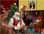 SANTA AT HOME<br>& Rat Terrier