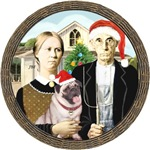 AMERICAN GOTHIC CHRISTMAS<br>& Pug