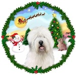 SANTA'S TAKE OFF #1<br>& Old English Sheepdog