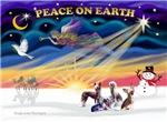 CHRISTMAS SUNRISE<br>& 4 Chinese Cresteds