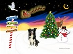 CHRISTMAS SIGNS<br>& Border Collie