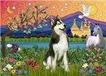 FANTASY LAND<br>& Siberian Husky(BW)#3