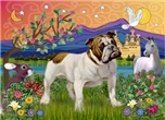 FANTASY LAND<br>& English Bulldog (Br-white)