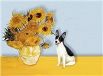 SUNFLOWERS<br>& Rat Terrier
