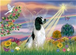 CLOUD ANGEL<br>& English Springer Spaniel (BW)