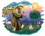 St. Francis #2 &<br>Pug (fawn)#2