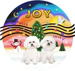 CHRISTMAS MUSIC #2<br>Bichon Frise (#2)<br>Two Bic