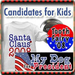 Presidential Candidates for Kids T-shirts