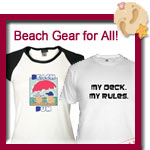 Beach T-Shirts, Beach Bags, Summer Tees