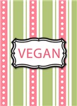 Vegan Jewelry, Charms, Ornaments - Green Pink