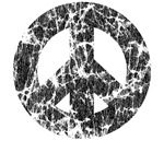 Classic Vintage Peace Sign: Black T-Shirts