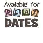 Available for Play Dates Funny Baby T-Shirts & Gif