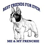 best friends forever french bulldog