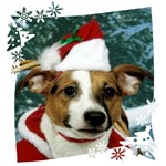 JRT Holiday: Christmas Santa Snowflakes Background