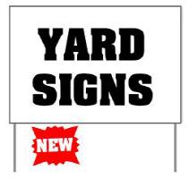 Cornhole Yard Signs