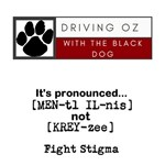Driving Oz logo plus Fight Stigma