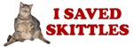 I SAVED SKITTLES CAT SURGERY FUNDRAISER SHIRT FOR
