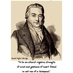 Coleridge atheist quote stuff