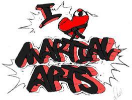 I Love Martial Arts Graffiti (With Heart)
