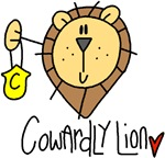 A cute cowardly lion with his medal of courage