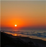 Beach Sunset in Topsail Island North Carolina