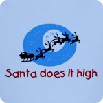 Santa does it high